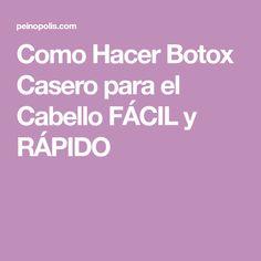 Como Hacer Botox Casero para el Cabello FÁCIL y RÁPIDO