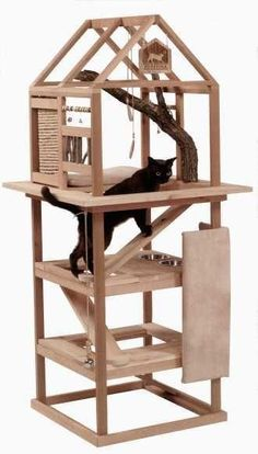 10 Cat Tree Ideas You Need to Check Out – Marge – Animal de soutien émotionnel - Katzen Diy Cat Tree, Cat Towers, Cat Shelves, Cat Playground, Pet Furniture, Furniture Stores, Furniture Ideas, Cardboard Furniture, Woodworking Furniture