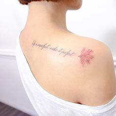'Life is imperfect, make it perfect.' by Hello Tattoo