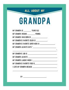 Fathers Day Printable |Persnickety Prints