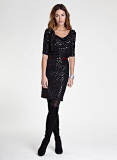 Shop for Kate Sequin Dress by Isabella Oliver at ShopStyle. Sequin Dress, Work Wear, Autumn Essentials, Evening Dresses, Shoulder Dress, Cute Outfits, Sequins, Glamour, Chic