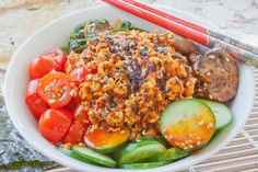 spicy-korean-gochujang-bowl    http://spiceislandvegan.blogspot.com/2012/08/spicy-korean-gochujang-bowl.html