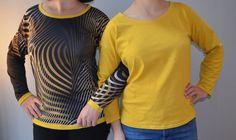 Le petit haut Trop-top de Ivanne. S - 3filles-et-dufil Trop Top, Tees, Diy, Fashion, Straight Stitch, Paper Pieced Patterns, Moda, T Shirts, Bricolage