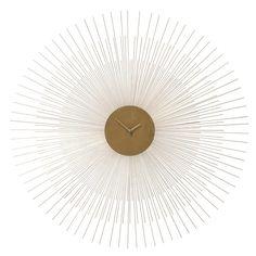 Horloge en métal doré D 95 cm ...