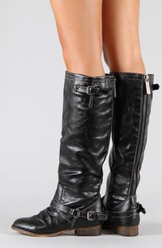 Sonja Zipper Back Boots- Black - Tee for the Soul