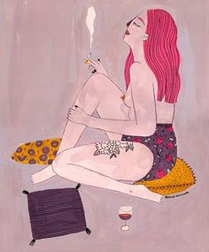 Illustrated ladies by Brunna Mancuso