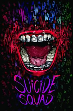 """Brazilian artist Cristiano Siqueira is eager to see Jared Leto as the Joker in """"Suicide Squad,"""" about a band of imprisoned DC Comics villains on a high-risk mission. So for his poster, he chose to focus on that character. Héros Dc Comics, Harey Quinn, Joker Y Harley Quinn, Univers Dc, Plakat Design, Joker Art, Joker Joker, Batman Art, Alternative Movie Posters"""