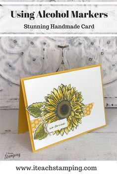 Yes, these sunflower cards are SUPER easy to make and you can make them really fast! The rubber stamp and the alcohol markers did all the work! Check out the details! Sunflower Cards, Alcohol Markers, Love Stamps, Simple Backgrounds, Cursed Child Book, Free Paper, No Time For Me, Super Easy, Stamping
