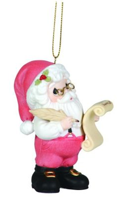 Precious Moments Annual Santa With His List Ornament Hes Making A List Third in Series >>> Continue to the product at the image link.