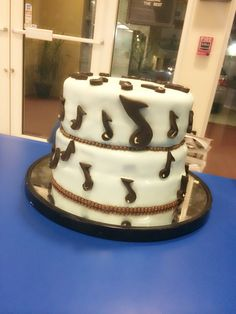 Fondant musical cake by me #chef pastry lover