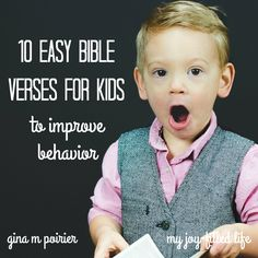 Do you base the discipline in your parenting on scripture or your own wisdom? These Bible verses for kids will help both you and them!