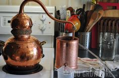 Making Plant Hydrosol with an Alembic Copper Still