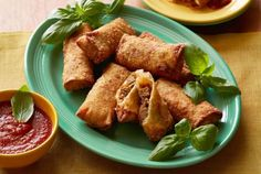 Delicious Crispy Italian Egg Rolls With Marinara Dipping