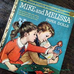 Mike and Melissa paper doll golden book - My Vintage Mending blog