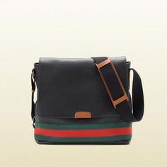 bef7d204d313 Gucci 281421 A7min 8672 Unterschrift Web Messenger Bag Gucci Herren Reisen  Replica Handbags