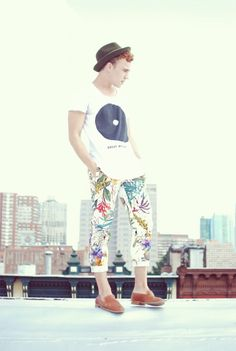 Justin Livingston - Men's Floral-Print Pants - Scout 16