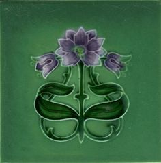 Art Nouveau Tile, Rhodes Tile Co: