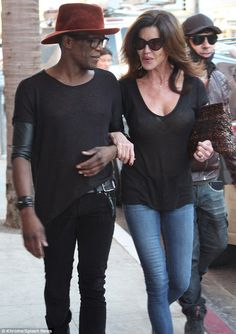 Relaxing outing: Janice Dickinson was spotted in Beverly Hills with friend andhair stylist Reginald Drummer on Wednesday after a spa visit