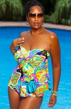 1e83c28db82 Women s Plus Size Swimwear - Always For Me Chic Prints - Jungle Fever 2  Piece Tankini