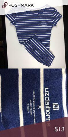c5a21a5b0 LIZ CLAIBORNE PAJAMA SHIRT Gently used blue and white striped pajama shirt Liz  Claiborne Intimates   Sleepwear Pajamas