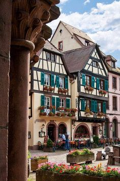 Joseph Abhar - Colmar , Alsace, France capital of Alsatian wine! A reflection of a heritage of Romans, Germans and French deep vernacular architecture in details and style! Places Around The World, Travel Around The World, Around The Worlds, Casas Tudor, Wonderful Places, Beautiful Places, Places To Travel, Places To Go, Haute Marne