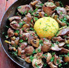 ficatei-de-pui-cu-ciuperci-la-tigaie Ethnic Recipes, Food, Romanian Recipes, Eten, Meals, Diet