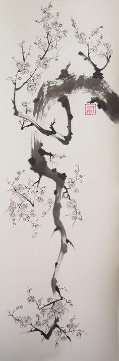 Grand Prunus tombant 33x95