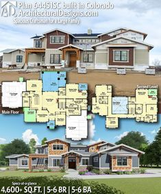 Plan 64451sc Spacious Craftsman For A Large Family In 2020 Craftsman House Plans House Plans House Blueprints