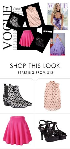 """""""Roses"""" by dzeny-118 ❤ liked on Polyvore featuring Yves Saint Laurent, Valentino, Whiteley, Christian Siriano and dlrboutique"""
