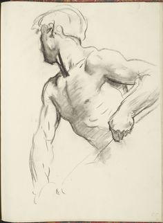 """Human Figure Drawing John Singer Sargent - Study for Angel at Far Left, """"Israel and the Law,"""" Boston Public Library Male Figure Drawing, Figure Sketching, Figure Drawing Reference, Life Drawing, Painting & Drawing, Hand Reference, Drawing Faces, Pose Reference, Figure Drawings"""