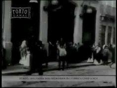 """Saída do Pessoal Operário da Fábrica Confiança"""" de 1896 de Aurélio da Paz dos Reis - Exibição das primeiras curtas-metragens amadoras em Portugal"""