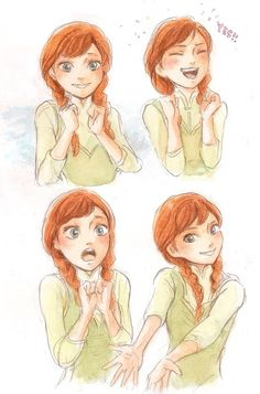An excited Anna.
