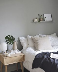 Cheap Home Decor Scandinavian inspired light grey and white bedroom in London / Cate St Hill.Cheap Home Decor Scandinavian inspired light grey and white bedroom in London / Cate St Hill Scandi Bedroom, Cosy Bedroom, White Bedroom, Bedroom Ideas, Bedroom Inspiration, Swedish Bedroom, Scandinavian Bedroom Decor, 1920s Bedroom, Bedroom Bed