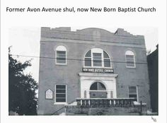 Notes on Newark and Declining Cities - Avon Avenue Shul (synagogue)