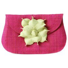 Gigi Flower Clutch - Pink/coral
