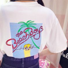 The Beach Boys Coconut Palm Printed T-shirt sold by Littlepinko. Shop more products from Littlepinko on Storenvy, the home of independent small businesses all over the world. Grunge Style, Cyberpunk, Streetwear, Harajuku, The Beach Boys, Cool Style, My Style, Palm Print, Boys Shirts