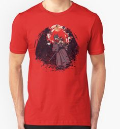 Lone Wolf and Cub mashed up with Little Red Riding Hood t-shirt.