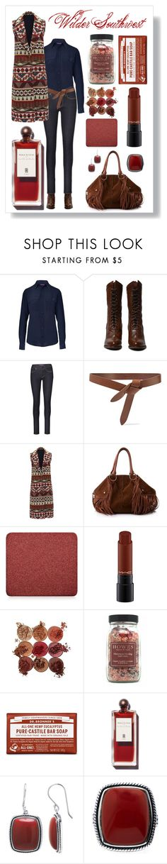 """""""Wilder Southwest:  Red Jasper"""" by wildersouthwest ❤ liked on Polyvore featuring Ralph Lauren Collection, Isabel Marant, Tod's, Inglot, MAC Cosmetics, western, southwestern and southwest"""