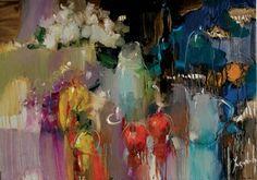"""Saatchi Art Artist Iryna Yermolova; Painting, """"Garden table"""" #art"""