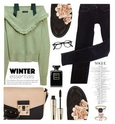 """""""CoCo"""" by ymociondesign ❤ liked on Polyvore featuring Pokemaoke, LIU•JO, Burberry, Chanel, L'Oréal Paris, Winter, chic, GREEN, jeans and greenday"""