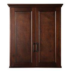 Bon Home Decorators Collection Ashburn 23 1/2 In. W Bathroom Storage Wall  Cabinet In Mahogany