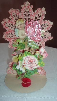Cherub With Rose Pull Out Valentine