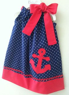 New Summer Nautical Anchor pillowcase style dress by fridascloset1, $26.00