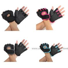 Women's Cycling Gloves - Flowermall Hot GYM Weightlifting Exercise Half Finger Sport Cycling Fitness Gloves *** Click image to review more details.