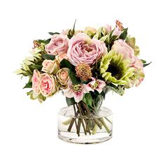 Natural Decorations Inc. Faux Spring Floral Arrangement//