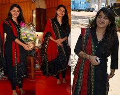 Anushka Black Simple Kameez - Indian Dresses