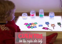 CUENTOS EN LA CAJA DE LUZ: MONSTRUO DE COLORES Infant Activities, Educational Activities, Activities For Kids, Psychology Clinic, Sensory Equipment, Abc Preschool, Light Board, Mindfulness For Kids, Soft Play