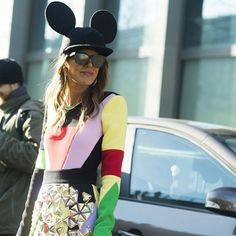 Anna Dello Russo , Paris #annadellorusso #paris #street #streetstyle #fashion#fashionable #pfw #fashion #fashionweek #style #styling #stylish #luxury #mickeymouse