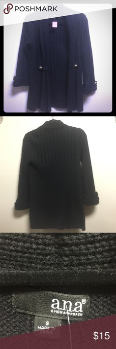 A.n.a. Black robbed coverup size small Like new heavy knit sweater a.n.a Sweaters Cardigans