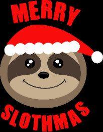 Merry Slothmas Sloth Christmas Greetings Card Christmas Sloth Sloths Funny Cute Sloth Pictures